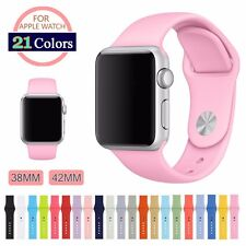 Silicon Replacement Sports Bracelet Wrist Strap For Apple Watch Bands 38mm/42mm