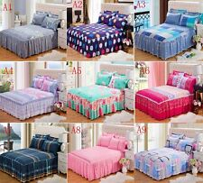 Bedding Fitted Sheet/Valance With Pillowcases Twin Extra Long Queen King Size