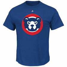 Chicago Cubs Majestic Cooperstown Official Logo T-Shirt - Royal Blue