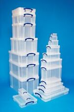 Sizes 3 - 10 Litre Really Useful Boxes CD DVD A4 A3 Shoes Clear Storage Box lids