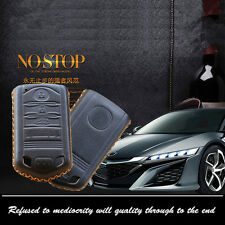 Leather Car Remote Key Fob Case Holder Cover Chains Fit For Acura Remote KeyCase