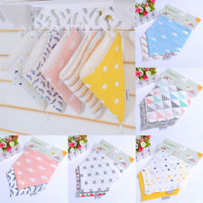 2x Baby Cotton Bandana Bibs Dribble Triangle Lunch Head Scarf Saliva Towel 2016
