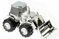 Silver plated digger tractor money box (MB013)