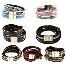 Jewelry fashion Artificial Leather Magnetic Buckle Cute Charm Bracelet