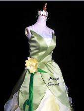 P123 COSPLAY Dress Princess and Frog Tiana Costume tailor made kid adult GOWN