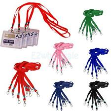 10 x Neck Strap Lanyard Holder String Cord For ID Pass Card Key With Metal Clasp