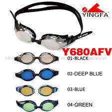 2016 NEW YINGFA Y680AFV SWIMMING GOGGLES ANTI-FOG UV PROTECTION BLACK BLUE GREEN