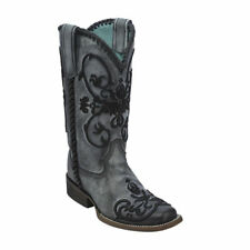 Corral Women's Grey Whip Stitch Square Toe Cowboy Boot C2979