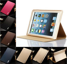 Ultrathin Genuine Real Cowhide Leather Case Stand Cover For Apple iPad Air2 mini