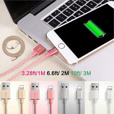 Braided Nylon Charger Fast Micro USB Sync Data Cable for Android iPhone 5 6 6S 7