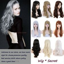 Ombre Mix Synthetic Ladies Long Straight Curl Full Wigs Cosplay Wig Natural Hair