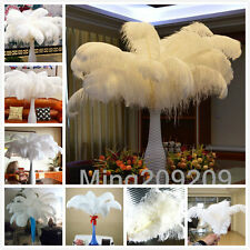 Wholesale 10-100pcs High Quality White OSTRICH FEATHERS 6-28'inch/15-70cm