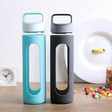 500ml BPA Free Drink Water Glass Bottle Sport Travel Silicone Couple Friend Gift