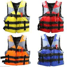 Cool Boating Swimming Life Jacket Vest Polyester Floating Foam Whistle