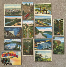 CHATTANOOGA Tennessee 14 POSTCARDS and FOLDER Linen Railway etc