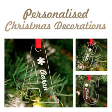Personalised Christmas Acrylic Letter Decorations