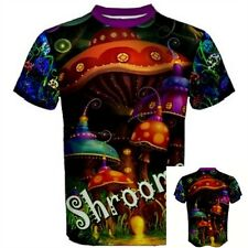MAGIC MUSHROOMS SHROOMS drug hippie Psychedelic lsd dmt Hallucinogen T-SHIRT MMU