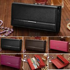 Clutch Women PU Leather Wallet Purse Ladies Envelope Multi-Color Organizer KECP