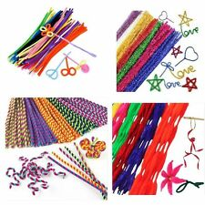 "Chenille Craft Stems Pipe Cleaners 12"" 30cm 20-100pk - Free Post"