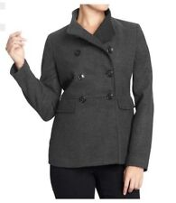 NEW OLD NAVY WOMENS XS S  CHARCOAL GRAY CROPPED PEACOAT PEA COAT JACKET