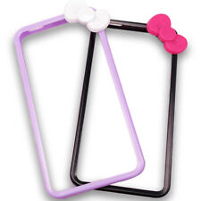 CHOOSE COLOUR Cute Bow Bumper Cover Clip-On iPhone 4 for DIY Decoden - UK SELLER