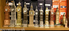 London Big Ben Souvenir Clock Metal Plated or Pure Crystal with Changing Lights