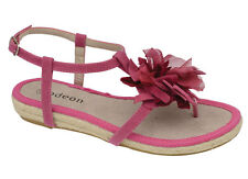 New Odeon Womens Fuchsia Flower Espadrille Thong Sandals ALL SIZES