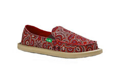 Sanuk Women's Donna Burgundy Multi Radio Love Sidewalk Surfers