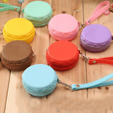 Women Purse Macaron Silicone Waterproof Wallet Pouch Coin Bag Cute Gift FMCA