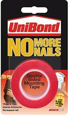 UNIBOND NO MORE NAILS ON ROLL ULTRA STRONG BOND INTERIOR AND EXTERIOR TAPE