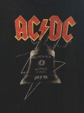 ACDC AUSTRALIAN TOUR 2010 BLACK ICE BELL DESIGN  ADULT MENS BLACK CONCERT TSHIRT