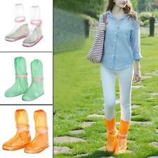 Womens Mens Reusable Rain Shoe Covers Waterproof Shoes Boots Overshoes Anti-slip