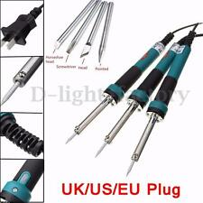 30W Electric Soldering Iron Kit & Iron Tips Solder Welding Tool UK EU US Plug