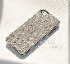 Handmade Bling Claw Set Clear Diamond Crystal Cover Case For iPhone 4 4S/5 5S