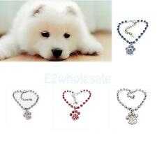Chic Puppy Pet Cat Collar Decor Paw Print Necklace Pendant Fashion Dog Jewelry
