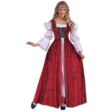Medieval Lace-Up Gown Renaissance Maiden Wench Costume Halloween Fancy Dress