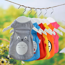 Pet Clothes Cartoon Pattern Dog T-shirt Vest Puppy Teddy Casual Summer Clothing