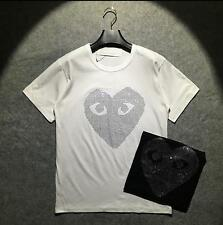 New Men's Comme Des Garcons CDG Play Big stone Heart Tee Women's Cotton T-shirts