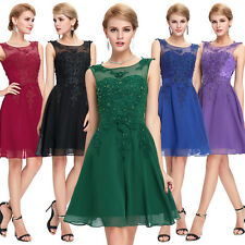 Womens Dress Short Beaded Cocktail Party Formal Evening Ball Prom Wedding Gown