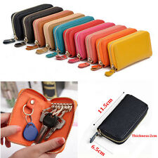 Unisex Genuine Leather Purse Car Key Cases Key Holder Wallet Card Pack Coin bag