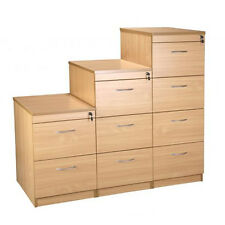 Beech 2 / 3 / 4 Drawer Locking Office Filing Cabinets with Keys
