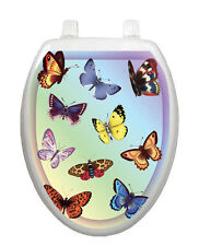 Butterfly Dreams Toilet Tattoo  Removable Reusable Bathroom Decoration