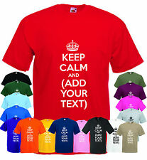 PERSONALISED KEEP CALM AND CARRY ON Custom T Shirt Printing Stag Hen Party