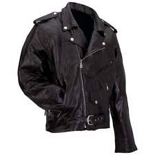 Men's Genuine Buffalo Leather Motorcycle Jacket NEW!