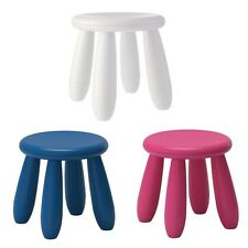Childrens Kids Plastic Stool Chair Indoor Outdoor Pink White Blue IKEA MAMMUT