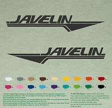"""Pair 12"""" JAVELIN Decals Sport Vinyl Stickers Boat Outboard Motor, lot of 2"""