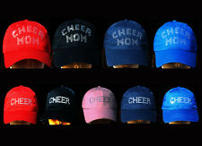 CHEER MOM or CHEER Hat Bling Baseball Cap Spirit Wear School Team Fast Shipping