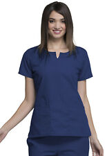 Navy Blue Cherokee Workwear Round Neck Scrub Top 4824 NAVW