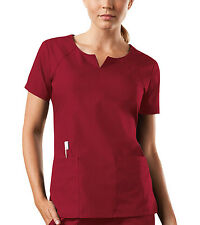 Red Cherokee Workwear Round Neck Scrub Top 4824 REDW