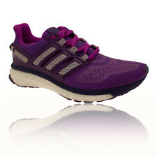 Adidas Energy Boost 3 Womens White Purple Sneakers Running Shoes Trainers